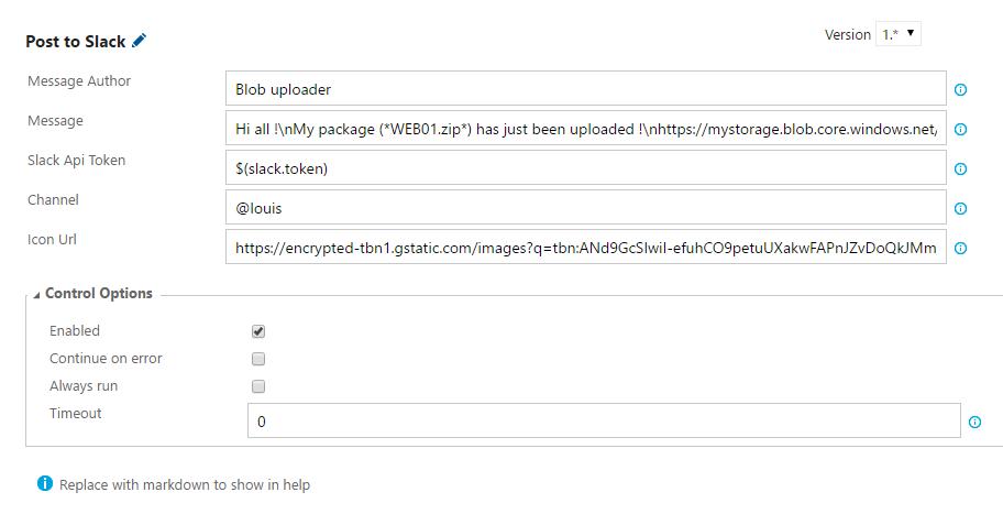 Post to Slack screenshot